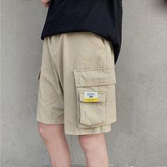 港风新款宽松五分裤女休闲工装裤中性短裤男裤衩 A345-1-DK701-45