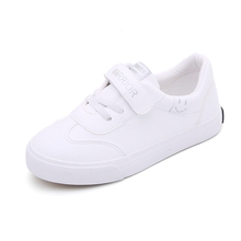 Return strength children's shoes spring 2020 new boys' shoes children's small white shoes girls' shoes white board shoes female primary school students' shoes
