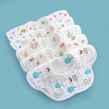 Baby saliva towel Cotton gauze Bib NEW BABY waterproof autumn winter eating Bib 360 degree rotation children