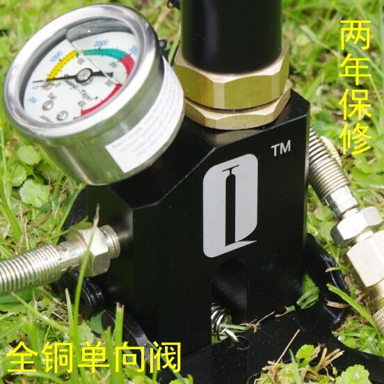 超强气动高压打气筒30mpa 手动打气筒40mpa 不锈钢水冷五代轻松版