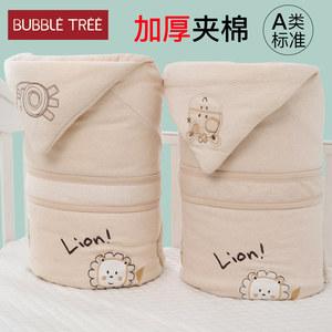 抱被新生儿用品秋冬纯棉外出包被子