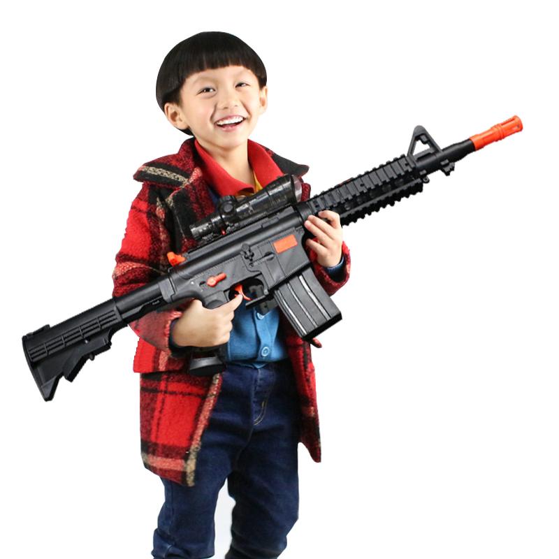 電動連發水彈槍巴雷特狙擊槍兒童男孩玩具槍可發射水晶軟子彈槍