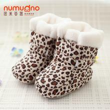 3-12月婴儿鞋高帮棉鞋加绒软底学步鞋