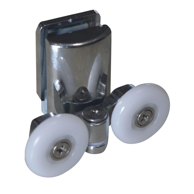 淋浴房滑轮玻璃移门 滑轮 老式小孔玻璃轮8-10淋浴房配件浴室滑轮