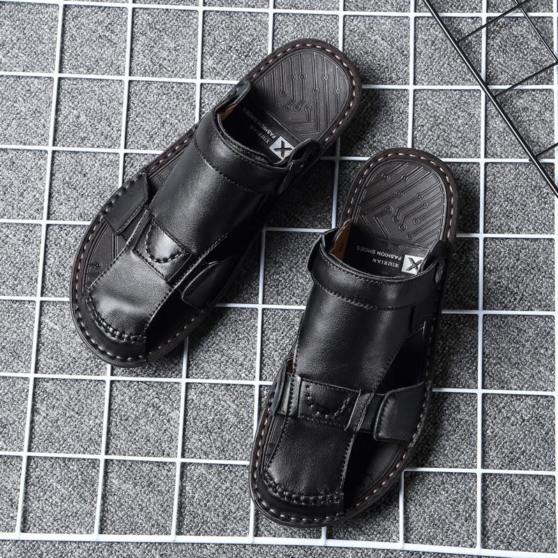 夏季包头男软底休闲防滑两用皮凉鞋评价如何