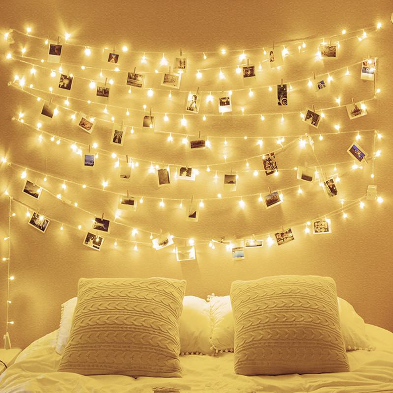 led小彩灯闪灯串灯满天星星灯饰网红卧室房间改造ins圣诞装饰用品