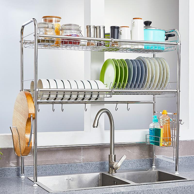 水槽放碗架304不锈钢厨房沥水架限9000张券