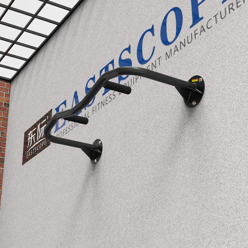 东际家用墙体单杠引体向上 单杆 不锈钢壁挂墙体下无空间 安装