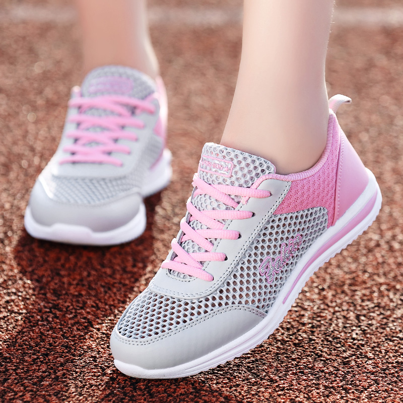 夏季回力网鞋女孩韩版透气网面防臭初中学生女鞋15岁夏天运动鞋女