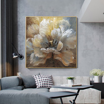 Pure hand-painted oil painting abstract flowers nordic style decorative painting restaurant beverage Hall hanging art American light luxury mural handmade