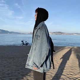 牛仔衣外套男潮流韩版bf风宽松夹克翻领学生秋季ins复古男装衣服
