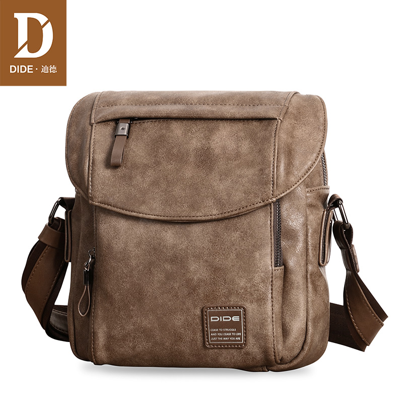 Dide shoulder bag men's messenger bag Korean casual large-capacity men's bag fashion simple shoulder bag youth sports backpack