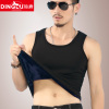 Men's autumn and winter warmth plus thick velvet vest tight-fitting sports bottoming female cotton waistcoat vest Fitness tide of youth