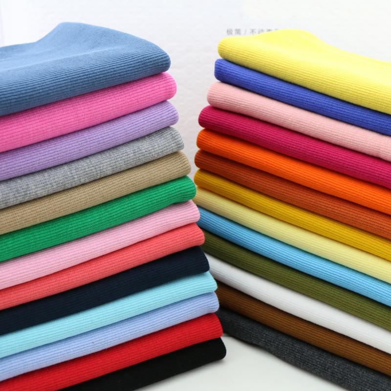 Чистый хлопок одежда закрыл ребра стрейч вязать закон Hau одетые вздутие живота лифта ткани одежды цвета сортировки