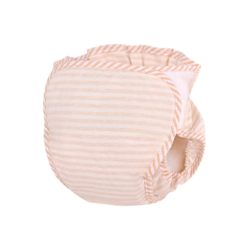 彩棉新生嬰兒尿布褲防漏尿布兜透氣寶寶布尿褲可洗純棉隔尿褲用品