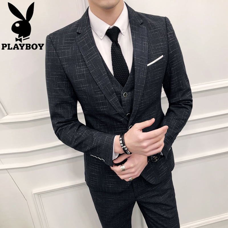 Playboy костюм установите мужской жених выйти замуж небольшой церемонии ремонт одежды тело корейский официальная одежда случайный костюм мужской костюм