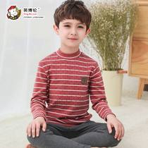 Inboren children winter thickening warm underwear set baby Shu velvet pure cotton sweaters boy cotton autumn pants