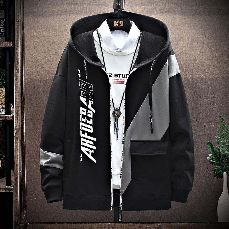 2021 spring new mens jacket trend student sports leisure ins Korean printing recommended promotion coat