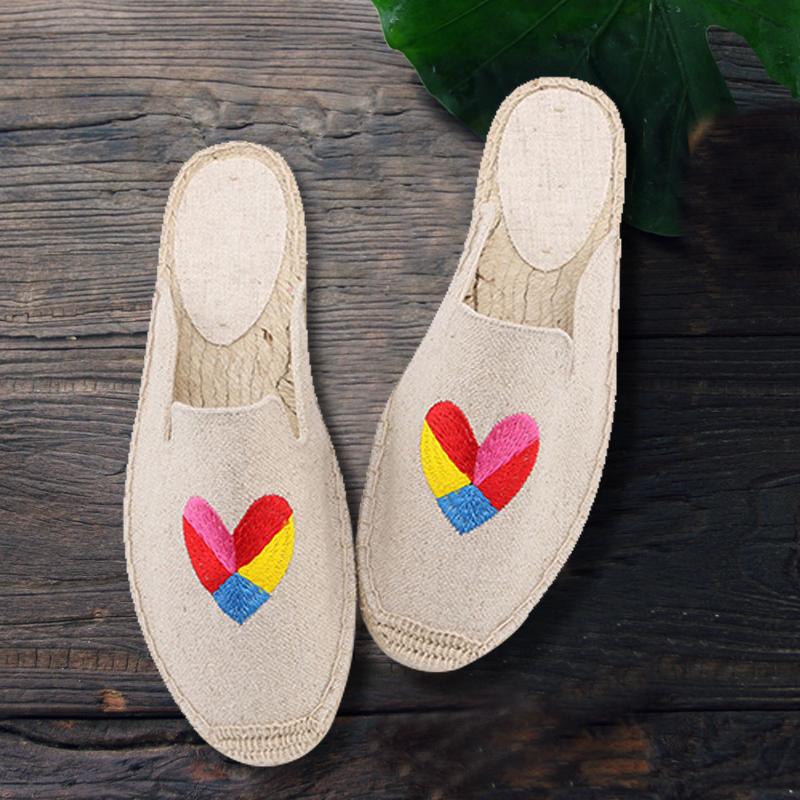 soludos渔夫鞋草编亚麻拖鞋 松糕厚底鞋一脚蹬帆布乐福鞋懒人鞋女