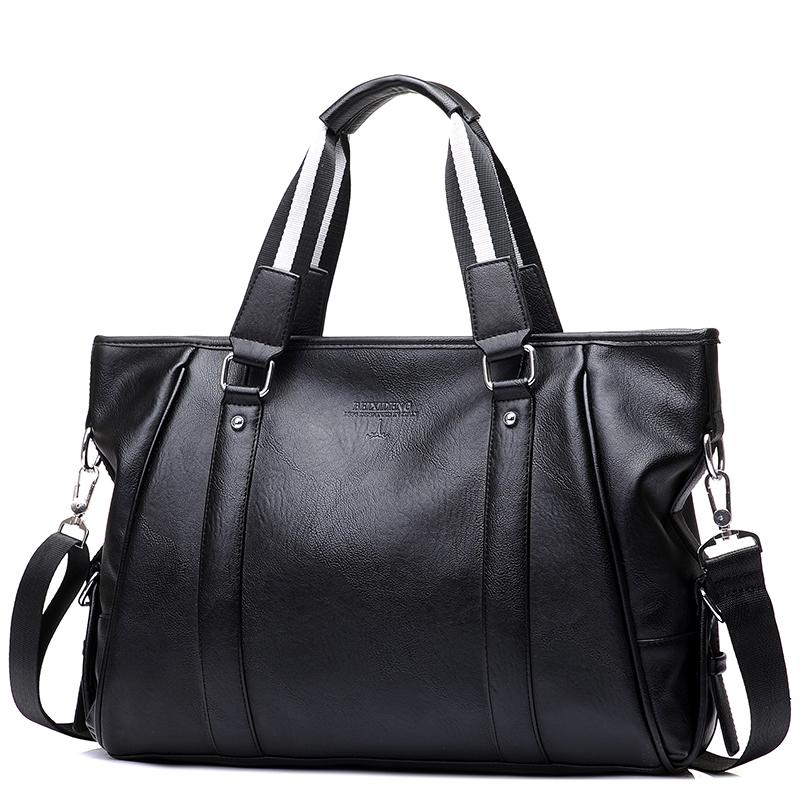 男包商務男士包包橫款手提包單肩包男公文包斜跨包電腦包皮包