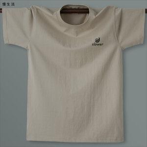 纯棉休闲男款T恤 男士短袖大码青年品牌印花宽松欧美圆领纯色夏季