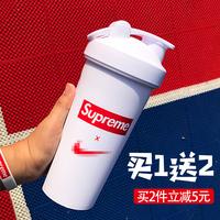 运动水杯便携健身杯子女男学生蛋白粉杯摇摇杯奶昔杯搅拌球大容量