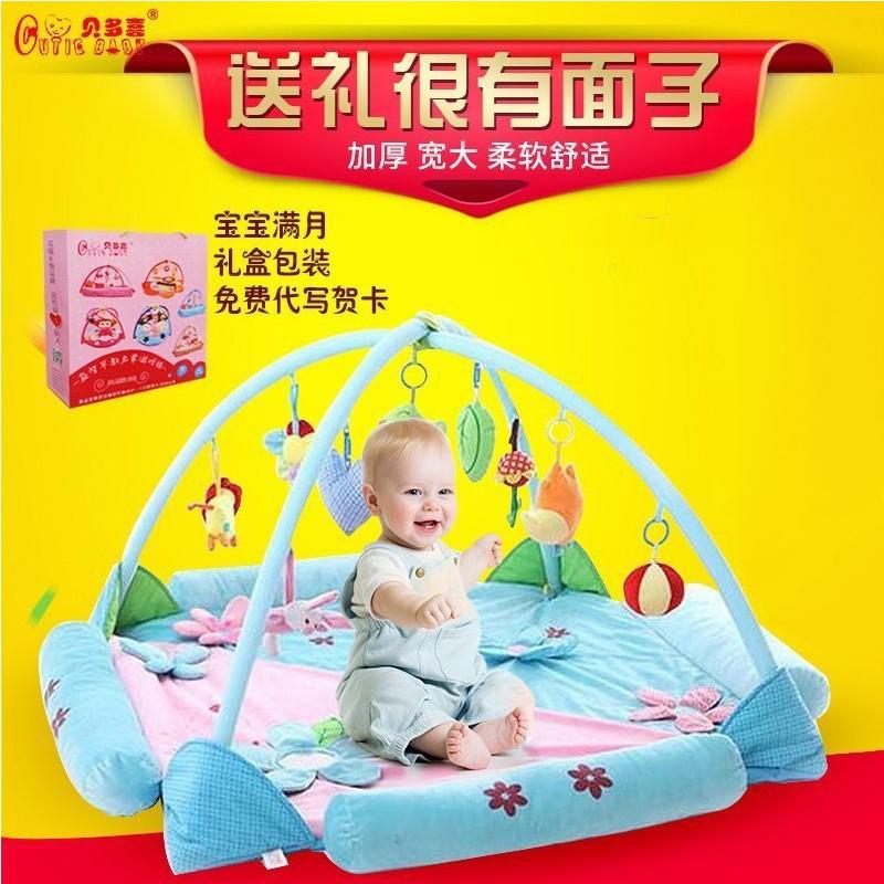宝宝爬行垫加厚客厅卧室婴儿游戏毯学步健身架益智玩具环保爬爬垫