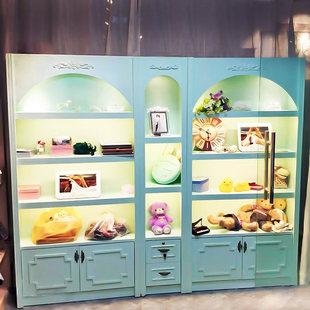 欧式化妆品展示柜美容院产品护肤商用彩妆展柜组合陈列柜美甲店
