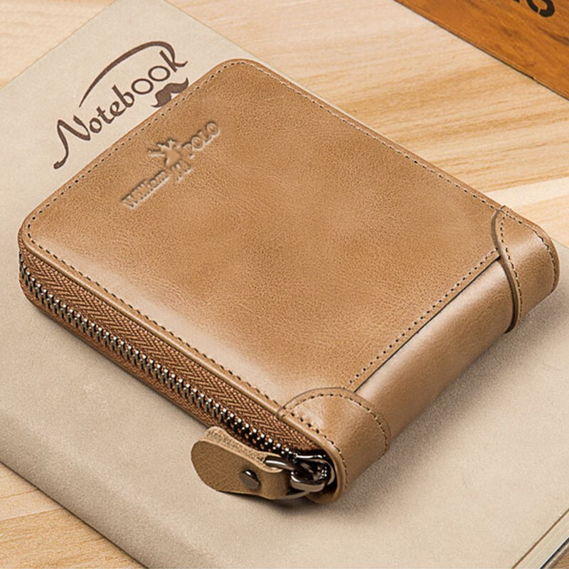 King Paul leather new drivers license mens pocket change wallet top leather fashionable retro short Money Wallet