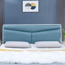 床頭科技布新款軟包靠背單買現代免漆歐式床頭板輕奢雙人落地定制