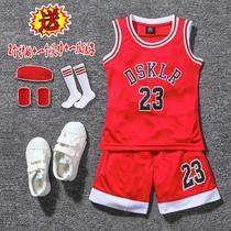 男童夏季科比套装儿童小学生湖人篮球服中大童背心男孩足球训练服