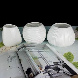 小清新創意簡約小花瓶工藝擺件陶瓷花瓶水培花器花插筆筒