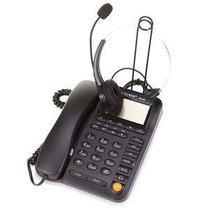 亚尔亚VE320呼叫中心话务员耳麦电话机客服400办公固话耳机座机