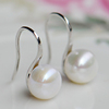 925 silver pearl earrings freshwater pearl earrings female models South Korean fashion wild earrings earrings free shipping
