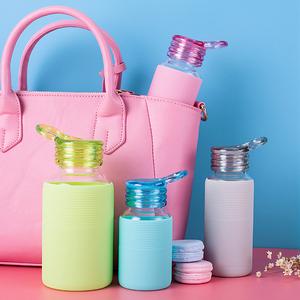 富光玻璃杯便携水杯女士密封杯子带盖迷你创意随手户外清新小水瓶