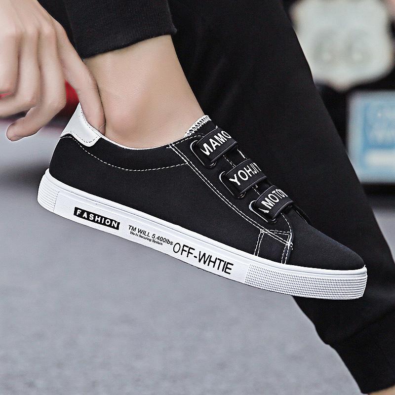 夏季套脚帆布鞋男板鞋韩版潮流男鞋子百搭老北京布鞋休闲学生潮鞋