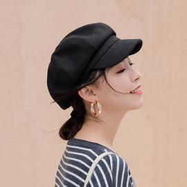 贝雷帽子女潮ins秋冬天英伦复古八角帽韩版百搭报童网红款蓓蕾帽图片