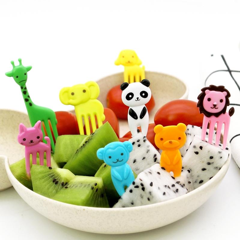 动物卡通迷你水果签便当签儿童水果叉创意时尚拼盘装饰签水果牙签