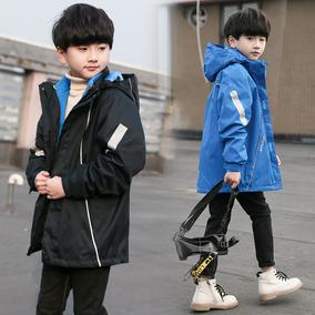 儿童户外三合一男童春秋加绒冲锋衣