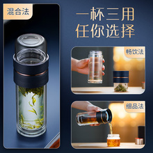 SUPERPOR DOUBLE-LAYER GLASS TRANSPARENT WATER GLASS MANY AND MAN FILTER TEA WATER TO SEPARATE TEA-BUILDING GLASS