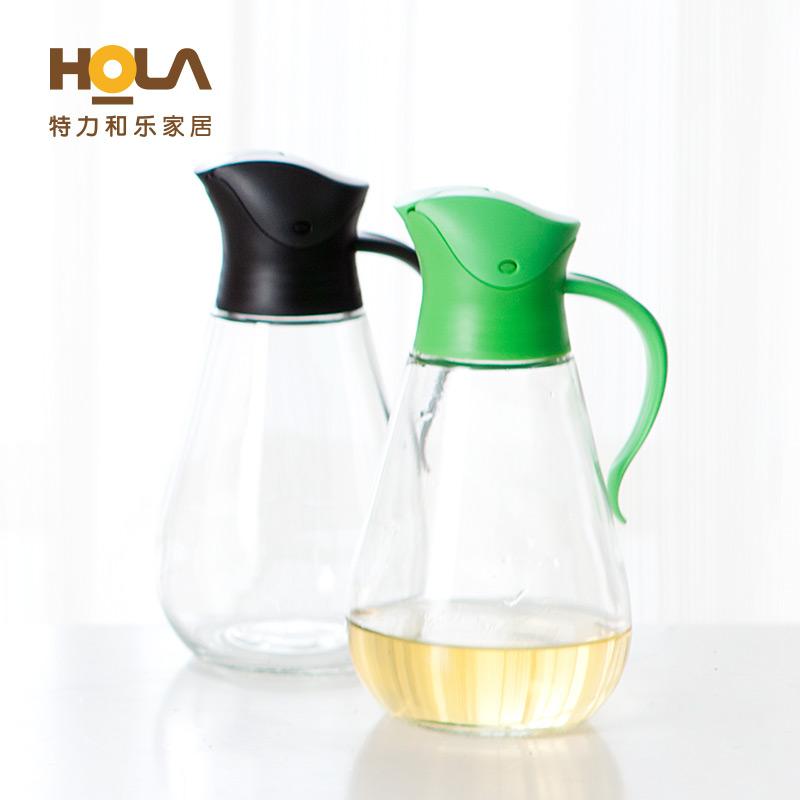 HOLA特力和樂特力屋傾斜自動開啟油壺防漏防塵醬油醋調料壺550ml