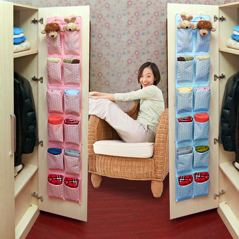 墙挂式门后收纳袋 宿舍挂袋牛津布储物袋衣柜收纳神器布袋鞋挂袋
