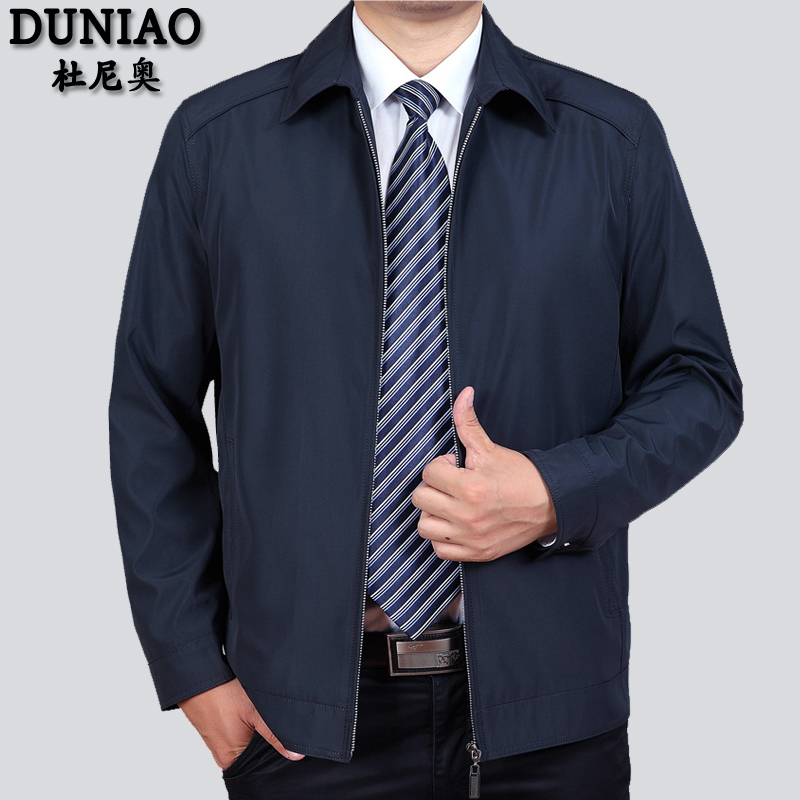 Spring new middle-aged men's jacket spring and autumn casual dad's 40 thin 50 year old spring coat