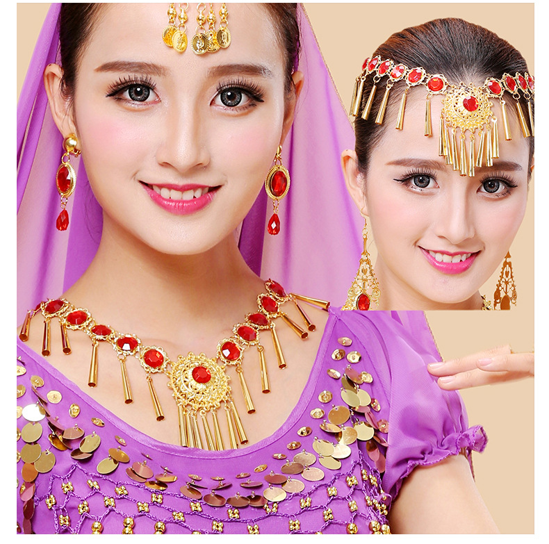 Belly Dance Costume head chain accessories necklace dance performance neck chain 11 diamond necklace