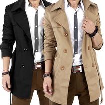 男士风衣中长款春秋季韩版潮男修身英伦外套青年薄款大衣学生外套