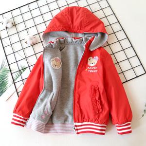女童外套开衫2020新款春装韩版中大童两面穿外套儿童韩版拉链衫图片
