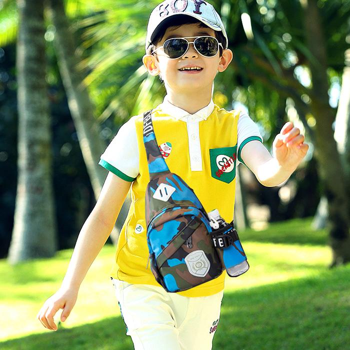 Дети мешки сумка мальчиков грудь пакет случайный ученик корейская волна на открытом воздухе путешествие рюкзак одиночный разряд мешок
