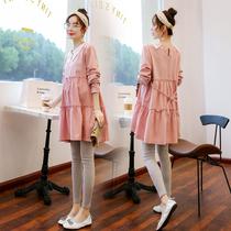 SH0404新款韩版时尚招妇裙子妈中长款上衣2019齐欣妮宽松条纹夏季