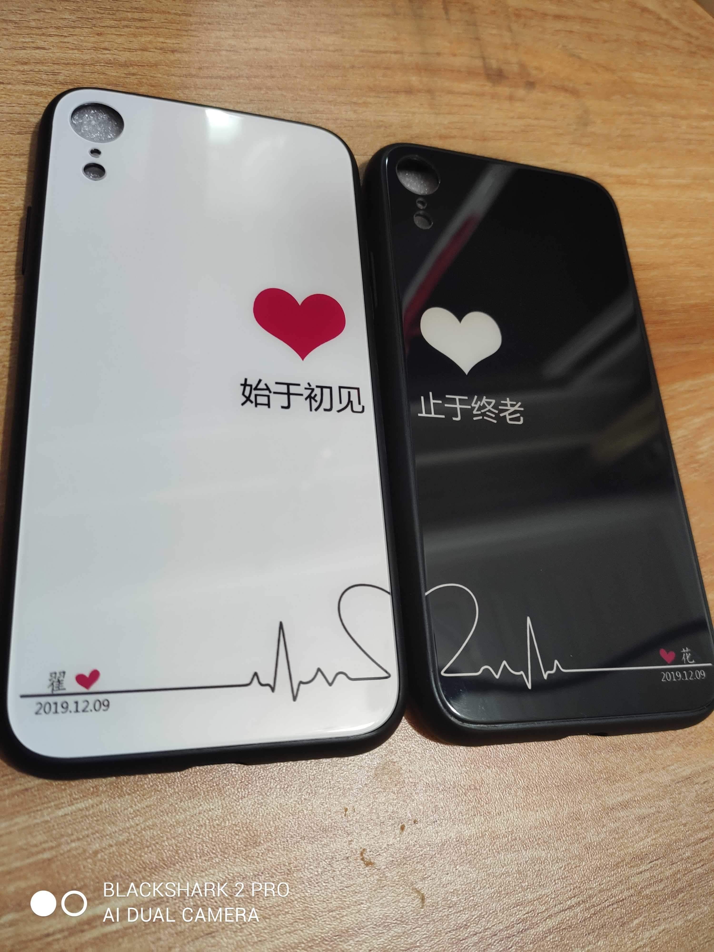 DIY手机壳OPPOvivo苹果华为全系情侣文字钢化玻璃亚克力夜光玻璃