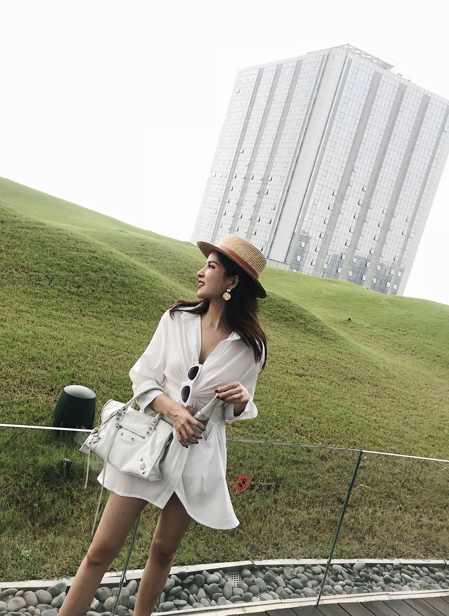 UMI2018新品秋装气质假两件衬衫裙女两件套收腰ins超火极简冷淡风